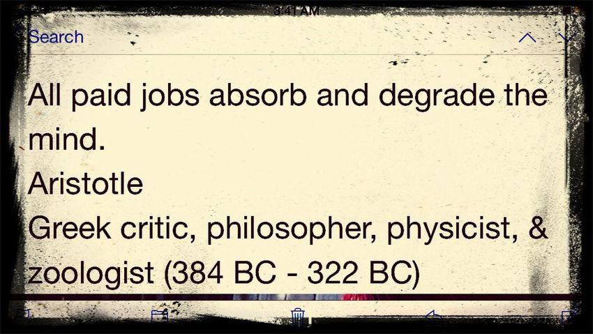Aristotle Jobs Mind