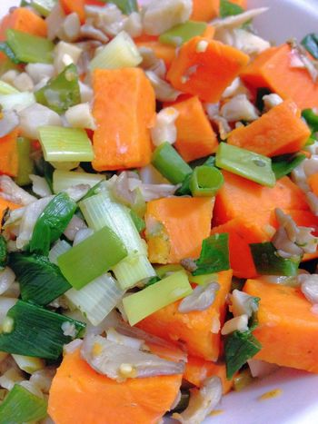 Oyster Mushrooms Sweet Potatoes Green Onion 365 Photos In 2015 Healthy Food Vegetarian Food Vegan Food Vegetables Food