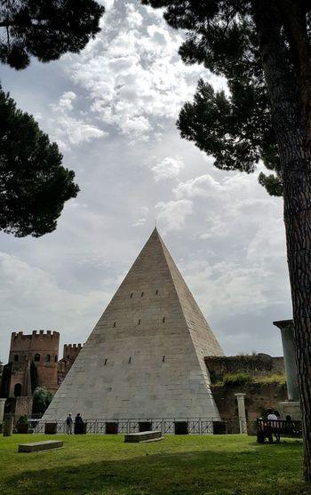 A Pyramid in Rome Caio Cestio Monument Landmark Ancient Monument Ancient Roman