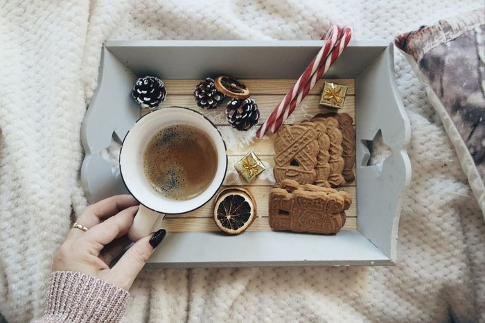 Coffee - Drink Coffee Cup Drink Food And Drink Human Hand Cup Lifestyles Refreshment Breakfast Freshness People Christmas Decorations Always Be Cozy Christmastime