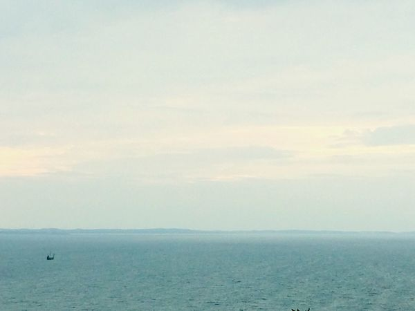 Water Sea Lonesome Boat Waterfront Sky Horizon Over Water Horizon Boat Ocean Ocean View Seascape Calm Baltic Sea