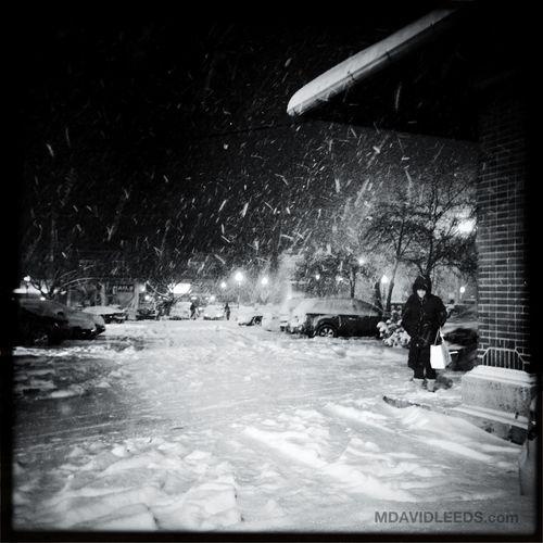My love arriving at the station. Blackandwhite Love Snowstorm Winterwonderland