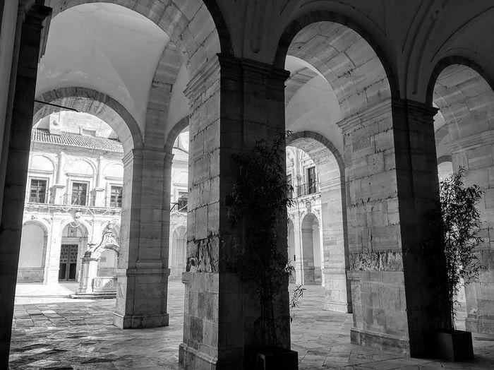 Monasterio de Uclés Arch Architecture Built Structure Architectural Column Building No People Day The Past Travel Destinations History Religion Place Of Worship Belief Tourism Colonnade Arcade Ornate Arched