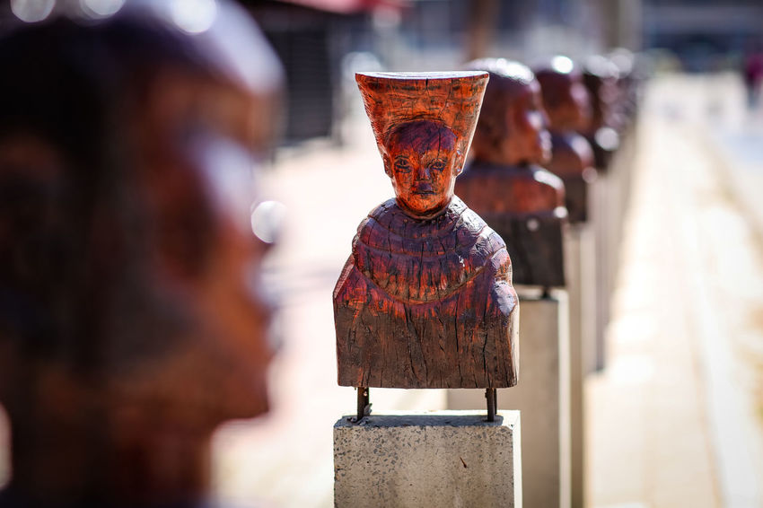 Street art African Crafts Johannesburg South Africa Wood Wooden Sculpure Africa Art Art And Craft Creativity Day Focus On Foreground Human Representation Outdoors Sculpture Statue Street Art