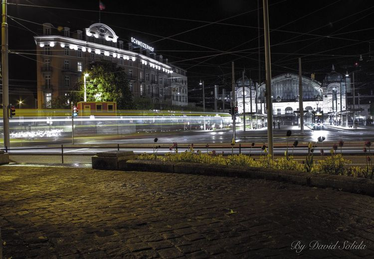Bahnhof SBB Basel, Switzerland Night Architecture Built Structure Outdoors City Canonphotography Photography Lifestyles