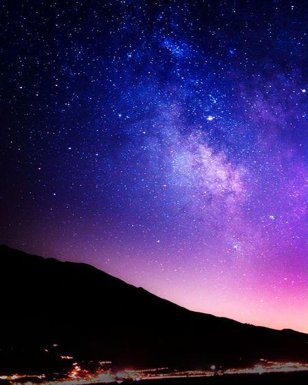 Gardalake, Italy Lago Di Garda Gardalake Gardasee Milky Way Milkyway Galaxy Sky Lake Landscape Night Nightphotography Stars Red And Blue Nightsky Night Sky