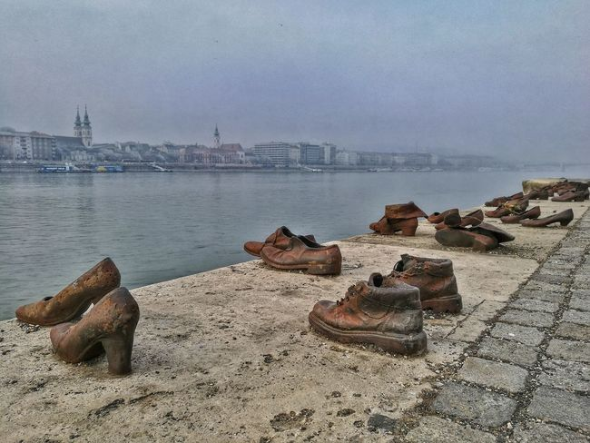Water Sand Beach Sea Outdoors Sky No People Nature Day River Shoes Memorial Hungary Winter 2017 New Year HuaweiP9 Huawei Shots