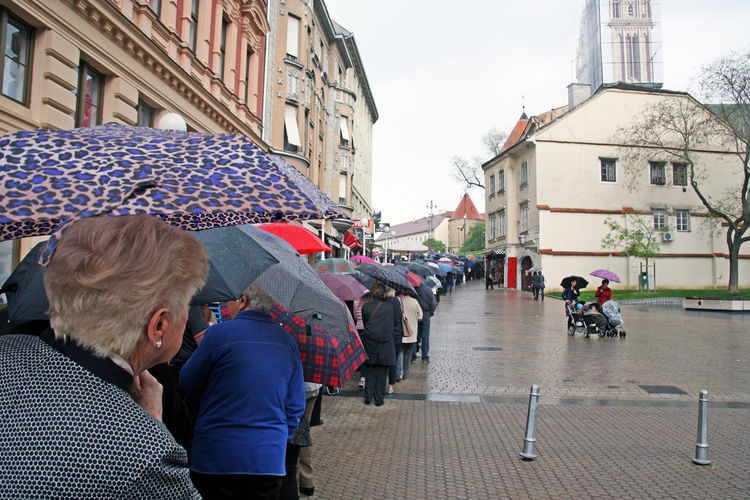 Welcome of St.Leopold Mandic's body in Zagreb,pilgrims and believers,11,Croatia,EU,2016. Cathedral Catholicism Christianity City Croatia Day Eu Religion Saint St.Leopold Bogdan Mandic Welcome Zagreb