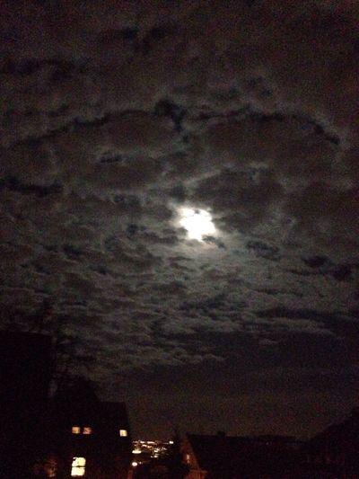 Night Moon Moon And Clouds Night Lights Moon City