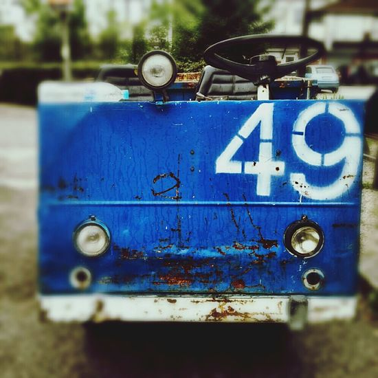 49*isn't num Transporte Forklift Luggage Cart  Electrocar Mobilephotography Rusty