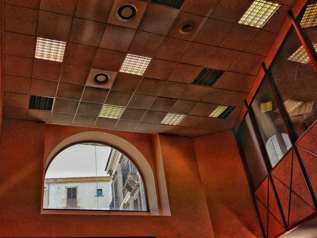 Fine Art Photography Soffitto Window Bank Interior Design Sulmona Abruzzo - Italy No Peole Waiting For My Turn