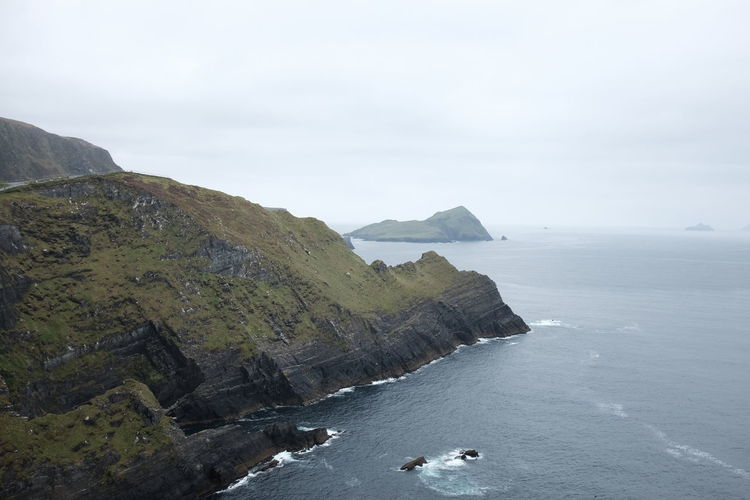 Ireland Beauty In Nature Cliff Day Horizon Over Water Mountain Nature No People Outdoors Ring Of Kerry Rock - Object Rock Formation Scenics Sea Sky Tranquil Scene Tranquility Water
