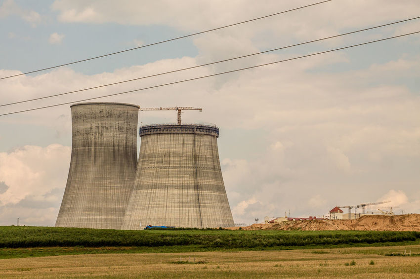 Architecture Atomic Belarus Built Structure Cloud - Sky Cooling Tower Day Factory Industry Nature No People Outdoors Sky