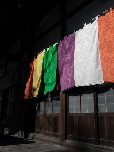 Japanese Temple Textile Sunlight