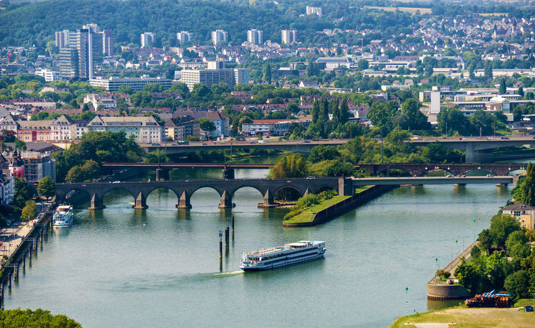Koblenz Bridges Cityscape Coblenz Deutschland Koblenz Rheinland-Pfalz  Architecture Bridge - Man Made Structure Built Structure City Cityscape Day Europe Germany Nautical Vessel No People Outdoors River Water