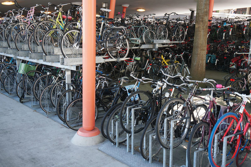 Bicycle Bicycle Rack Bicycles Bike Bikes Cycle Cycling Fiets Holland Many Multistorey Multistory Netherlands No People Parking Transportation