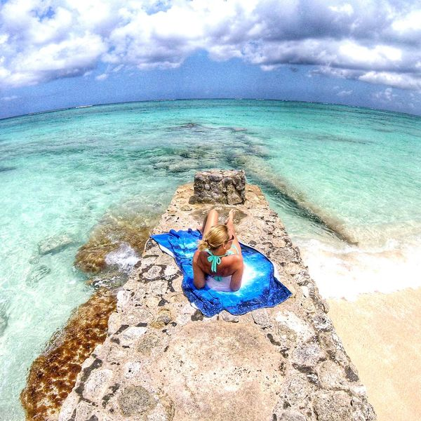 Our piece of heaven on earth Beauty In Nature Sea Beach Cloud - Sky World Be Still A Day In The Life Morning Reflections Blues And Greens Island Life Nassau, Bahamas Love Beach