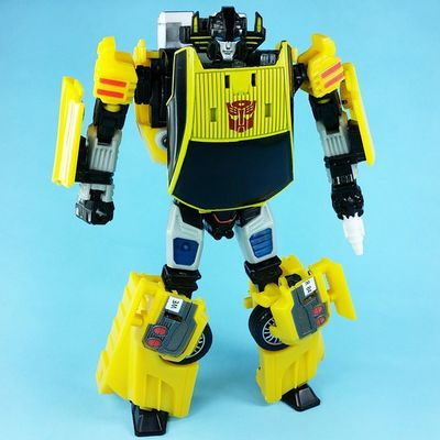Someday I will find a cool way to pose Transformers Sunstreaker . Today is not that day.