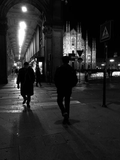 Piazza Duomo Milan Walking In Milan Night Illuminated Architecture City