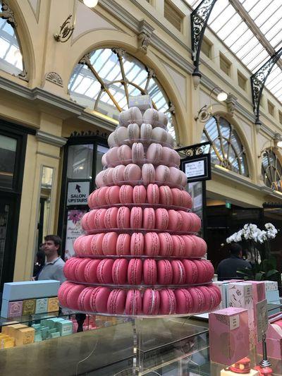 Pink Pink Macarons Macaron Macarons Tower Macaron Tower Macaron Pyramid Melbourne City Melbourne The Little Royal Arcade Royal Arcade Pink Macarons Tower Dessert Sweet Taken With IPhone7plus