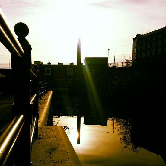 Reflection Sun Chimey River
