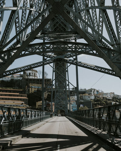 Ponte D. Luís I is the arch bridge that spans the cities of Porto and Vila Nova de Gaia. City Life City Street Travel Travel Photography Architecture Bridge Bridge - Man Made Structure Built Structure City Connection Girder Outdoors Symmetry Travel Destinations