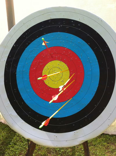 Archery target, 2013. Goals Improvement Practice Target Archery Archery Competition Archery Range Arrow Arrow - Bow And Arrow Bow Shooting Bullseye Circle Day Goal Setting Improving Outdoors Practice Makes Perfect Practicing Recurve Shooting Sport Sports Target Target Practice Target Shooting Training