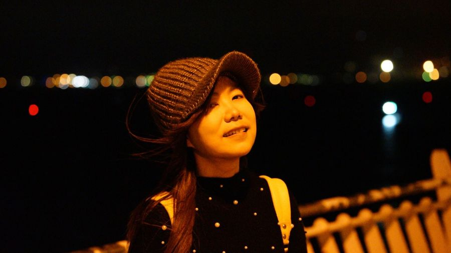 Tamsui Fisherman's Wharf One Person Hat Night People Headshot Only Women Child Adult One Woman Only Portrait Beauty Nightlife Outdoors Smiling Young Adult Human Body Part One Young Woman Only Close-up Sonya7m2