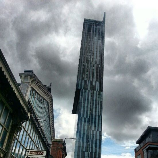 Hiltonhotel Hiltonmanchester Buildings Manchesterunited Samsunggalaxy3 Sky Clouds