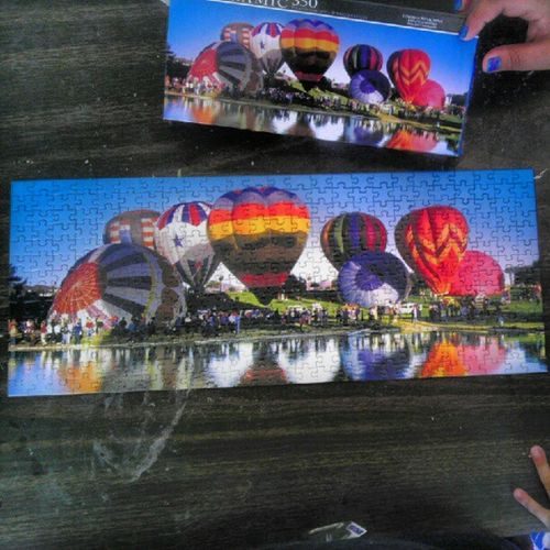 2 hours and 15 minutes later...this 350  Pieces Puzzle  Panoramic hotairbaloons withgirlfriend @peaceloveramos