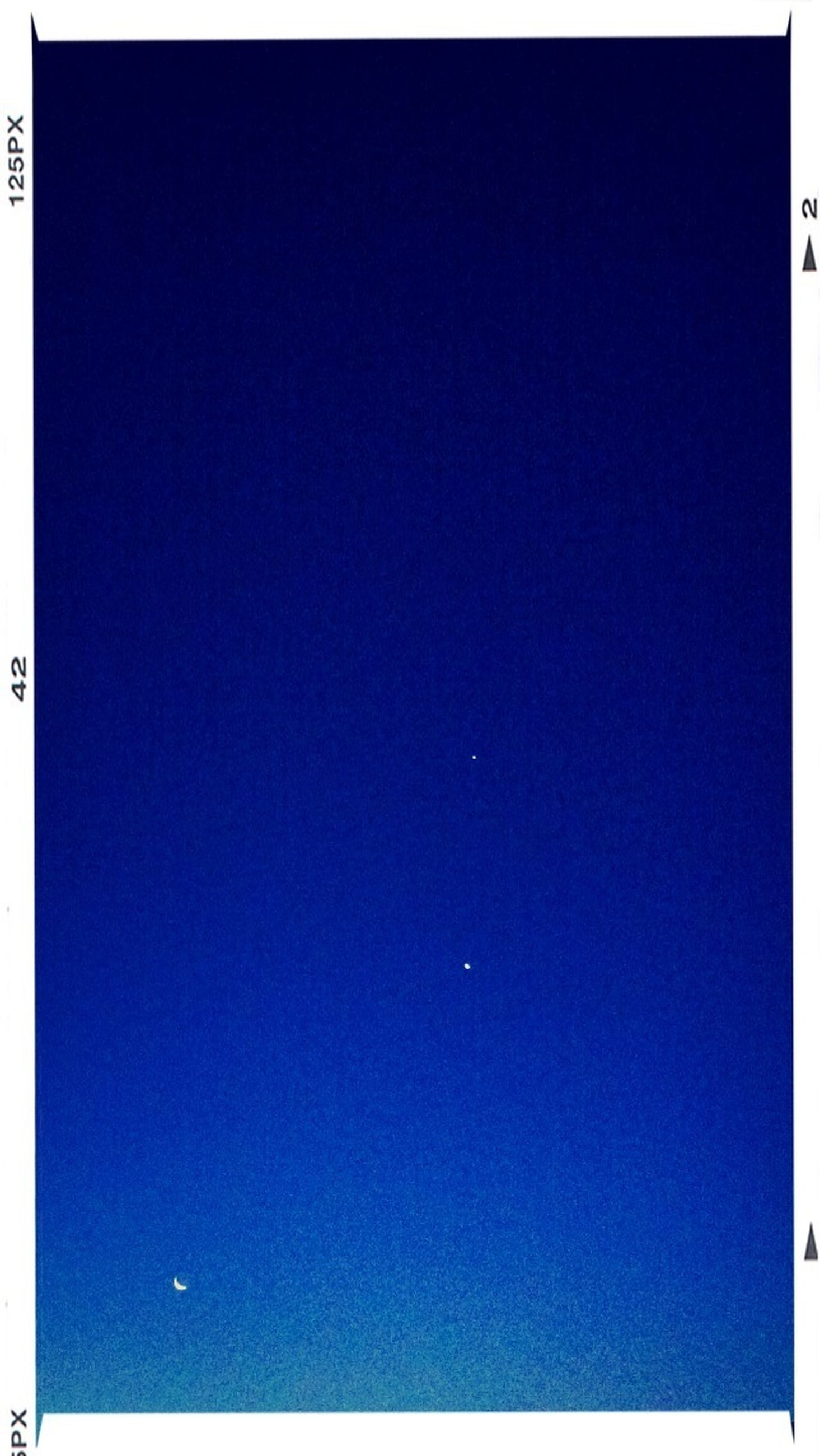 transfer print, copy space, blue, clear sky, auto post production filter, beauty in nature, scenics, tranquility, tranquil scene, night, nature, moon, low angle view, idyllic, no people, outdoors, sky, backgrounds, vignette, majestic