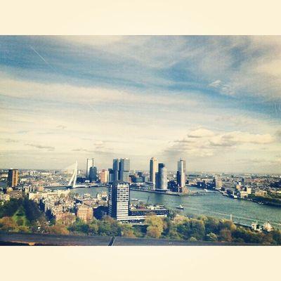 Взгляд на Роттердам со стометровой высоты