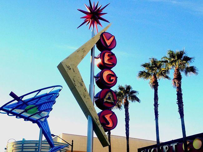 Old Vegas Downtown Sign Las Vegas Neon Palm Trees Freemont Street