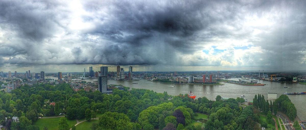 Panorama City Rotterdam Streetphotography Trees Clouds Rain City Life Taking Photos Skyline Water_collection EE Love Connection! Eye4photography  EyeEm Best Shots Eyemphotography Eeyem Photography Nature Photography Trees And Sky Euromast