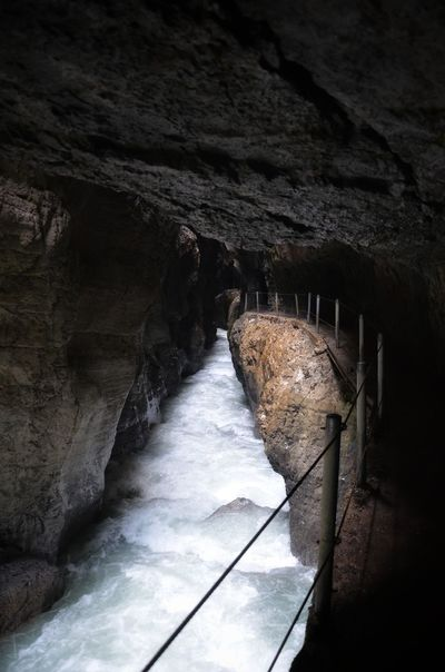 Partnachklamm Germany Water River Cave Rock Formation Waterfall Flowing Water Stream Flowing Physical Geography Rock - Object