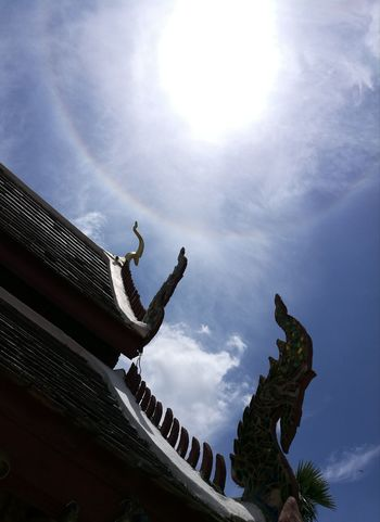Temple Chiang Mai   Thailand Chiangmai Sun Sunny Rainbow Sculpture Statue Dragon Place Of Worship Ancient History Religion Sky Architecture