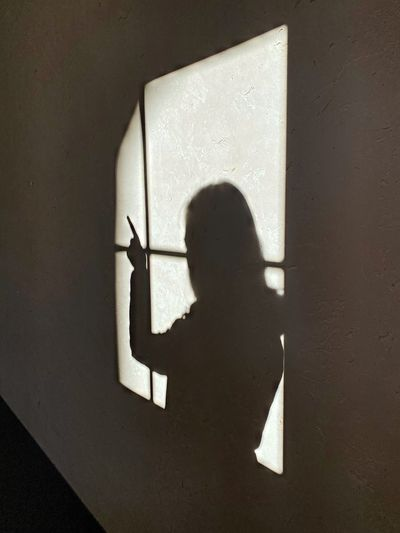 Shadow of person on wall