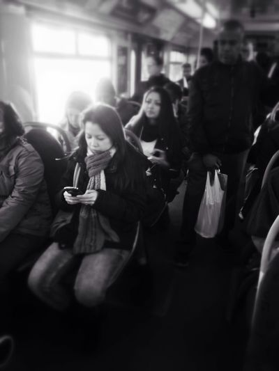 home or away? Gothenburg People Blackandwhite Public Transportation