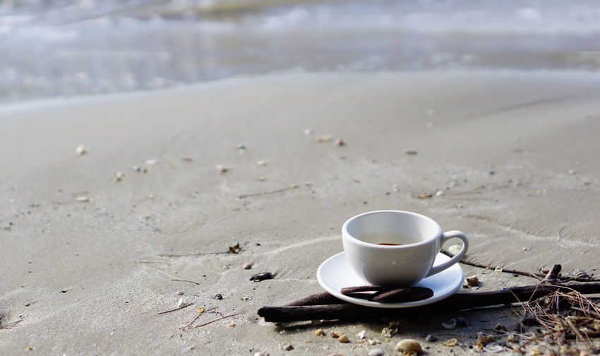 Cappuccino coffee. A cup of latte, cappuccino or espresso coffee on the beach. Aroma Bakery Beans Boiler Business Cafe Cappuccino Chocolate Christian Coffee Cookies Cream Drink Espresso Latte Latte Art Milk Morning Pressure Roasting Robust Stream Sweet Tables Wood