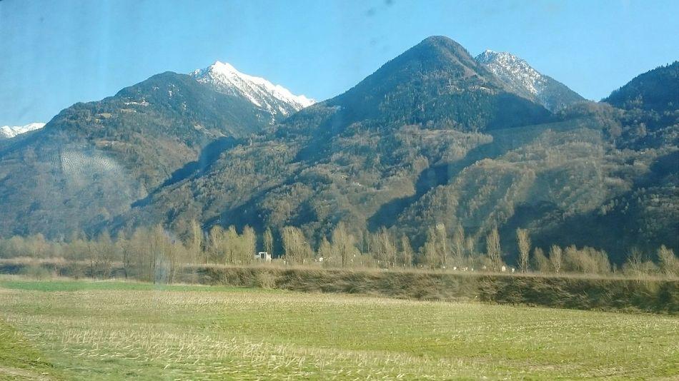 Valtellina Primavera On The Train Mountain View The Purist (no Edit, No Filter)