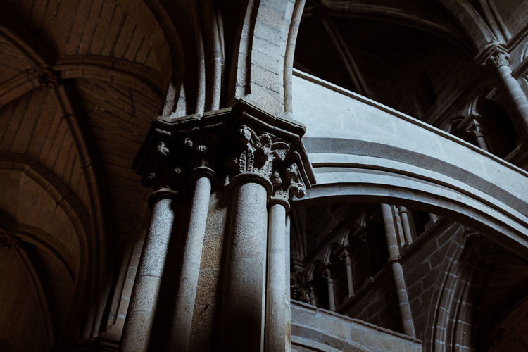 Threeweeksgalicia Architecture Built Structure No People Day Low Angle View Religion Place Of Worship Spirituality Indoors  Building Belief Architectural Column Arch History The Past Pattern Ceiling Ornate Architecture And Art Gothic Style