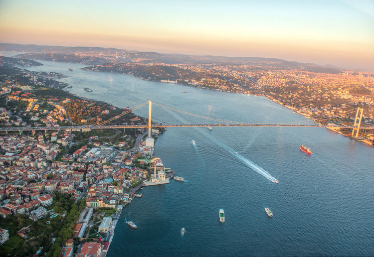 istanbul boğazı Istanbul Aerial View Architecture Beauty In Nature Bridge - Man Made Structure Building Exterior Built Structure City Cityscape Connection Day High Angle View Istanbul Turkey Istanbulbosphorus Mountain Nature Nautical Vessel No People Outdoors River Scenics Sky Transportation Water