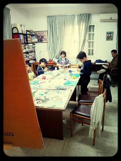 Peinture D'enfants Association Atelier Peinture
