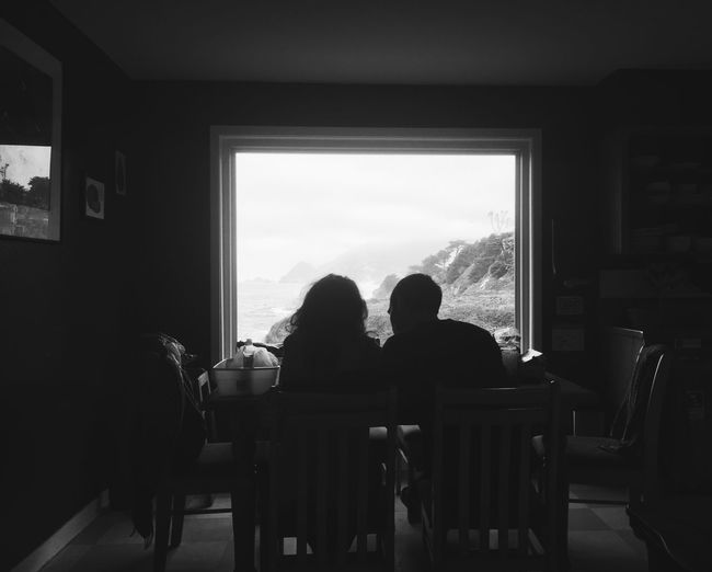 Human connection Closeness Family Love Lifestyle Black And White Photography Morning View Silhouette Window Real People Indoors  Togetherness Sitting Lifestyles Human Connection Women Restaurant Table Friendship Chair People Leisure Activity Seat Moments Of Happiness