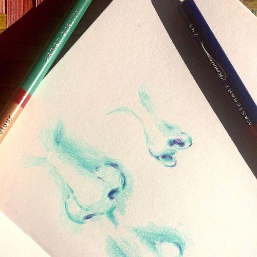drawing practicing Nose Practicing Practicing What I Love To Do Practicing Drawing Blue Color Sketch Sketchbook Sketching Sketch