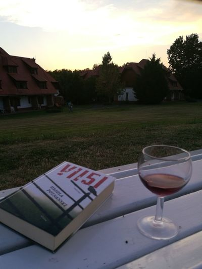 Sommergefühle Book Wine Bench Building Grass