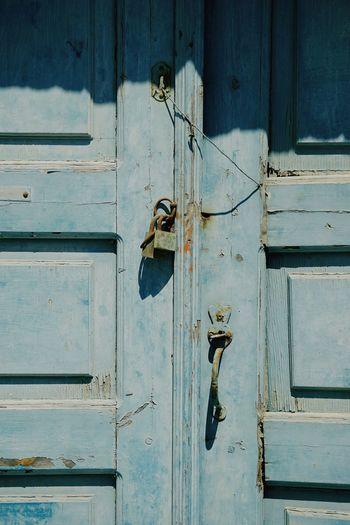 Full frame shot of closed old doors