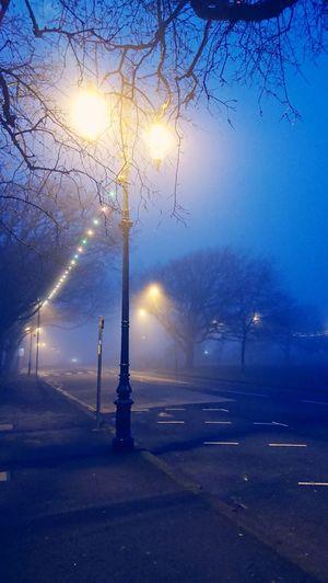 Fog Mist Light And Shadow Light Seafront Blue Walks Night Streetphotography Street Lights Water Cold Temperature Winter Illuminated Sky HUAWEI Photo Award: After Dark