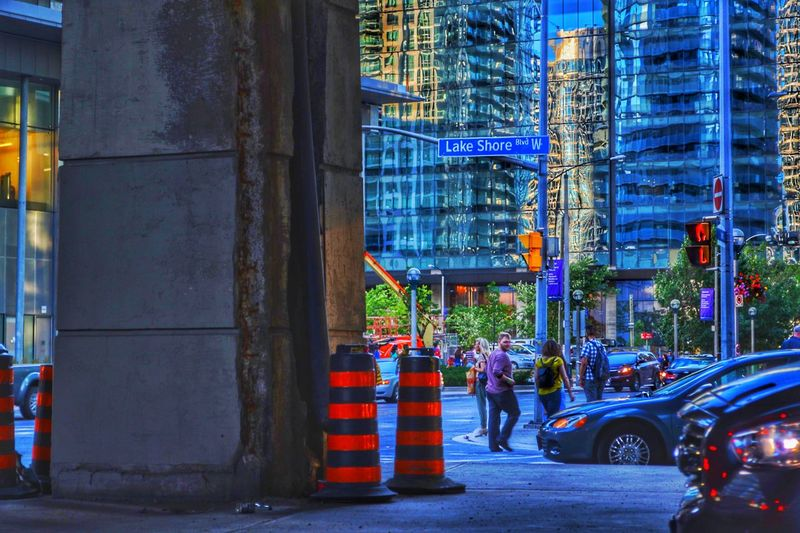 City Illuminated Car Architecture Built Structure Building Exterior