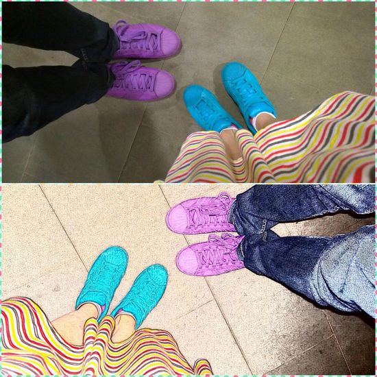 My Supercolor Adidasoriginals and her friend...